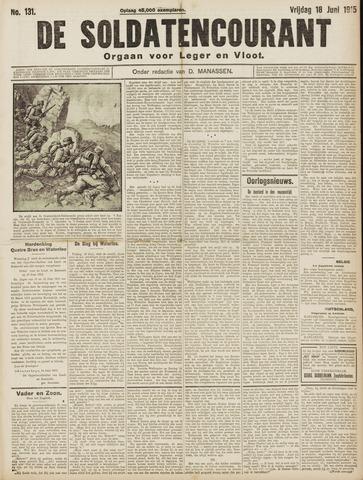 De Soldatencourant. Orgaan voor Leger en Vloot 1915-06-18