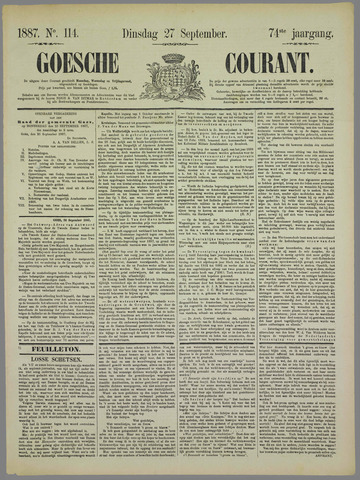 Goessche Courant 1887-09-27