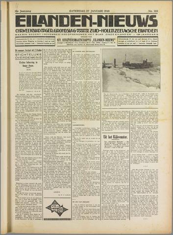 Eilanden-nieuws. Christelijk streekblad op gereformeerde grondslag 1940-01-27