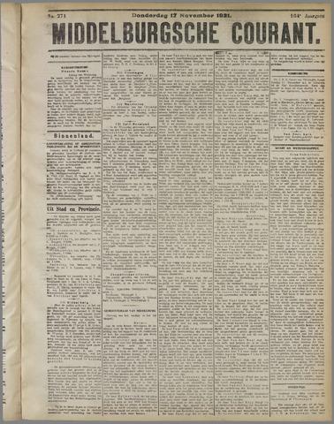 Middelburgsche Courant 1921-11-17