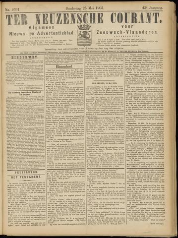 Ter Neuzensche Courant. Algemeen Nieuws- en Advertentieblad voor Zeeuwsch-Vlaanderen / Neuzensche Courant ... (idem) / (Algemeen) nieuws en advertentieblad voor Zeeuwsch-Vlaanderen 1905-05-25