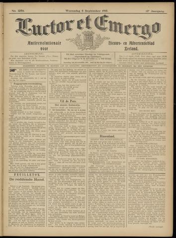 Luctor et Emergo. Antirevolutionair nieuws- en advertentieblad voor Zeeland / Zeeuwsch-Vlaanderen. Orgaan ter verspreiding van de christelijke beginselen in Zeeuwsch-Vlaanderen 1915-09-08