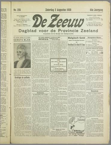 De Zeeuw. Christelijk-historisch nieuwsblad voor Zeeland 1930-08-02