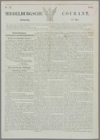 Middelburgsche Courant 1854-05-13