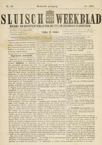 Sluisch Weekblad. Nieuws- en advertentieblad voor Westelijk Zeeuwsch-Vlaanderen 1875-10-15