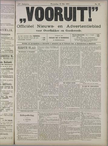 """""""Vooruit!""""Officieel Nieuws- en Advertentieblad voor Overflakkee en Goedereede 1911-05-10"""