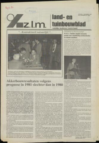 Zeeuwsch landbouwblad ... ZLM land- en tuinbouwblad 1981-12-11