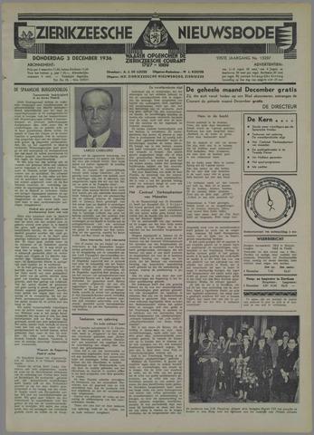 Zierikzeesche Nieuwsbode 1936-12-03