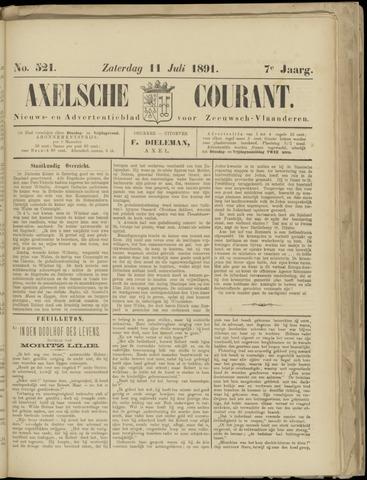 Axelsche Courant 1891-07-11