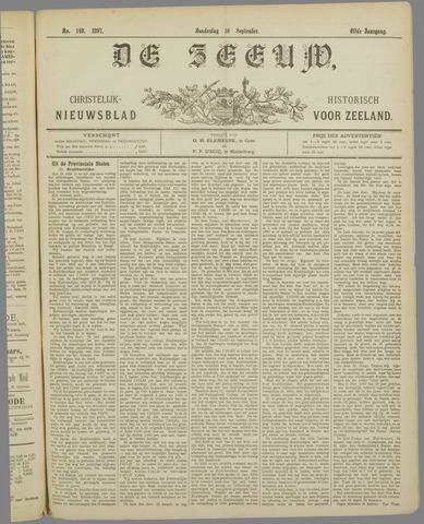De Zeeuw. Christelijk-historisch nieuwsblad voor Zeeland 1897-09-16