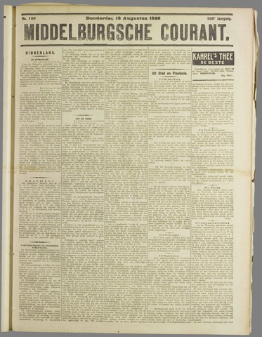 Middelburgsche Courant 1925-08-13