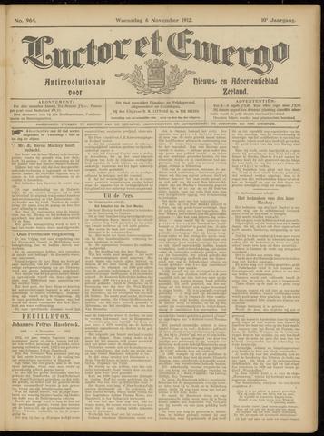 Luctor et Emergo. Antirevolutionair nieuws- en advertentieblad voor Zeeland / Zeeuwsch-Vlaanderen. Orgaan ter verspreiding van de christelijke beginselen in Zeeuwsch-Vlaanderen 1912-11-06
