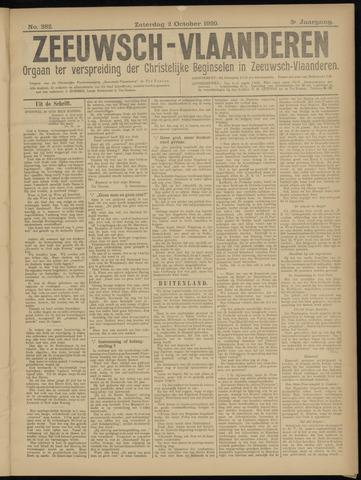 Luctor et Emergo. Antirevolutionair nieuws- en advertentieblad voor Zeeland / Zeeuwsch-Vlaanderen. Orgaan ter verspreiding van de christelijke beginselen in Zeeuwsch-Vlaanderen 1920-10-02