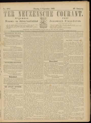 Ter Neuzensche Courant. Algemeen Nieuws- en Advertentieblad voor Zeeuwsch-Vlaanderen / Neuzensche Courant ... (idem) / (Algemeen) nieuws en advertentieblad voor Zeeuwsch-Vlaanderen 1906-09-04