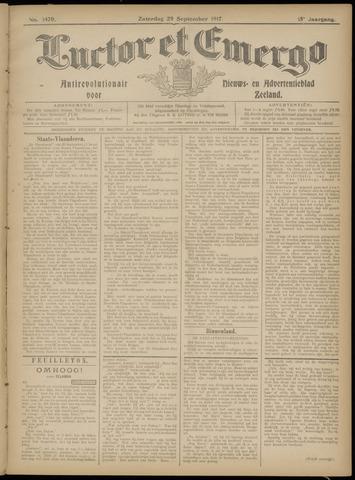 Luctor et Emergo. Antirevolutionair nieuws- en advertentieblad voor Zeeland / Zeeuwsch-Vlaanderen. Orgaan ter verspreiding van de christelijke beginselen in Zeeuwsch-Vlaanderen 1917-09-29