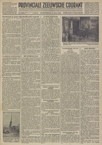 Provinciale Zeeuwse Courant 1942-07-09