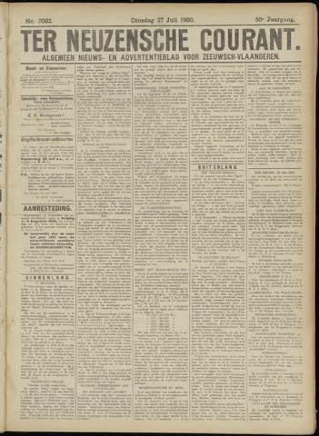 Ter Neuzensche Courant. Algemeen Nieuws- en Advertentieblad voor Zeeuwsch-Vlaanderen / Neuzensche Courant ... (idem) / (Algemeen) nieuws en advertentieblad voor Zeeuwsch-Vlaanderen 1920-07-27