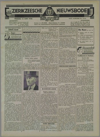 Zierikzeesche Nieuwsbode 1936-06-12