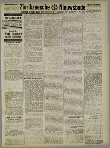 Zierikzeesche Nieuwsbode 1921-02-21