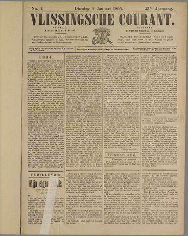 Vlissingse Courant 1895