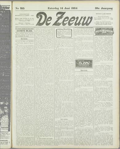De Zeeuw. Christelijk-historisch nieuwsblad voor Zeeland 1924-06-14