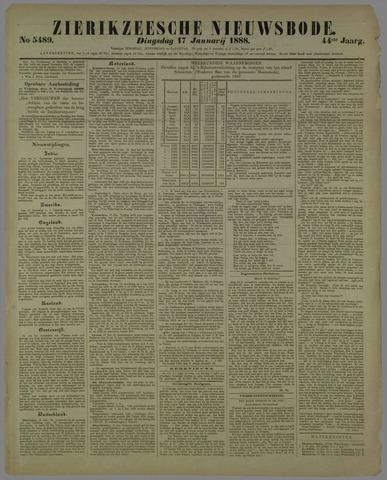 Zierikzeesche Nieuwsbode 1888-01-17