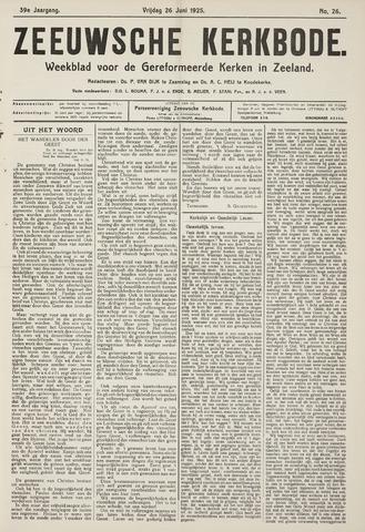 Zeeuwsche kerkbode, weekblad gewijd aan de belangen der gereformeerde kerken/ Zeeuwsch kerkblad 1925-06-26