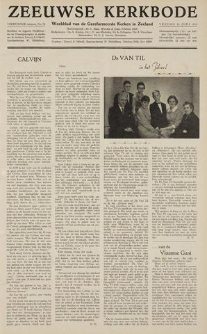 Zeeuwsche kerkbode, weekblad gewijd aan de belangen der gereformeerde kerken/ Zeeuwsch kerkblad 1959-06-26