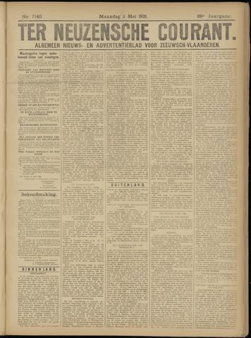 Ter Neuzensche Courant. Algemeen Nieuws- en Advertentieblad voor Zeeuwsch-Vlaanderen / Neuzensche Courant ... (idem) / (Algemeen) nieuws en advertentieblad voor Zeeuwsch-Vlaanderen 1921-05-02