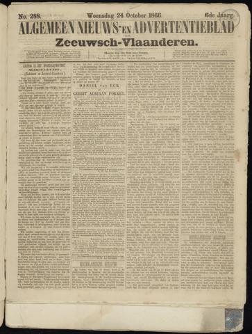Ter Neuzensche Courant. Algemeen Nieuws- en Advertentieblad voor Zeeuwsch-Vlaanderen / Neuzensche Courant ... (idem) / (Algemeen) nieuws en advertentieblad voor Zeeuwsch-Vlaanderen 1866-10-24