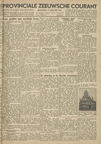 Provinciale Zeeuwse Courant 1944-01-17