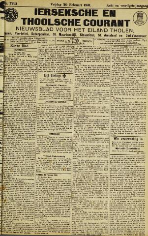 Ierseksche en Thoolsche Courant 1931-02-20