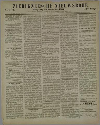 Zierikzeesche Nieuwsbode 1885-12-29