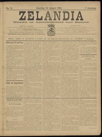 Zelandia. Nieuws-en advertentieblad voor Zeeland | edities: Het Land van Hulst en De Vier Ambachten 1902-01-25