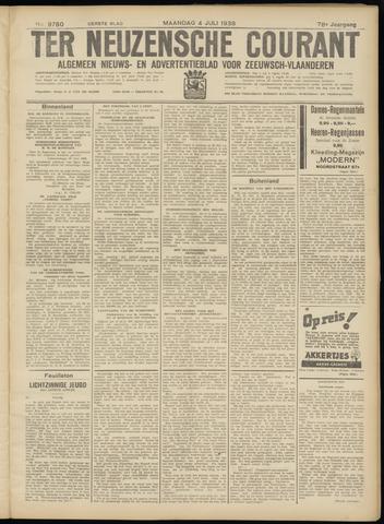 Ter Neuzensche Courant. Algemeen Nieuws- en Advertentieblad voor Zeeuwsch-Vlaanderen / Neuzensche Courant ... (idem) / (Algemeen) nieuws en advertentieblad voor Zeeuwsch-Vlaanderen 1938-07-04