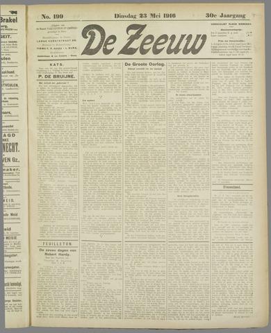 De Zeeuw. Christelijk-historisch nieuwsblad voor Zeeland 1916-05-23