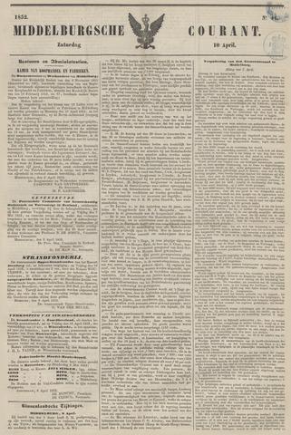 Middelburgsche Courant 1852-04-10