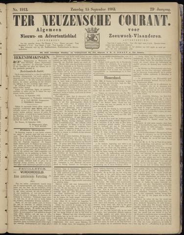 Ter Neuzensche Courant. Algemeen Nieuws- en Advertentieblad voor Zeeuwsch-Vlaanderen / Neuzensche Courant ... (idem) / (Algemeen) nieuws en advertentieblad voor Zeeuwsch-Vlaanderen 1883-09-15
