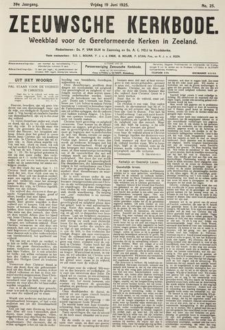 Zeeuwsche kerkbode, weekblad gewijd aan de belangen der gereformeerde kerken/ Zeeuwsch kerkblad 1925-06-19