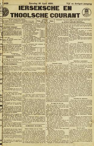 Ierseksche en Thoolsche Courant 1920-04-10