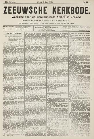 Zeeuwsche kerkbode, weekblad gewijd aan de belangen der gereformeerde kerken/ Zeeuwsch kerkblad 1925-06-12