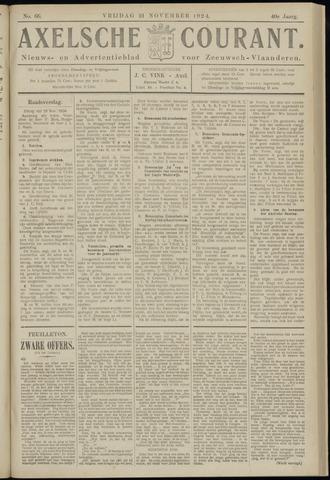 Axelsche Courant 1924-11-21