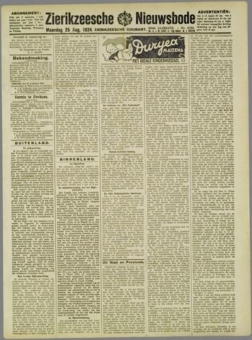 Zierikzeesche Nieuwsbode 1924-08-25