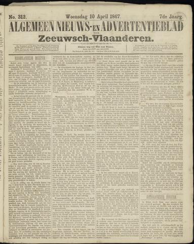 Ter Neuzensche Courant. Algemeen Nieuws- en Advertentieblad voor Zeeuwsch-Vlaanderen / Neuzensche Courant ... (idem) / (Algemeen) nieuws en advertentieblad voor Zeeuwsch-Vlaanderen 1867-04-10