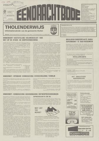 Eendrachtbode (1945-heden)/Mededeelingenblad voor het eiland Tholen (1944/45) 1989-03-09