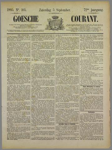 Goessche Courant 1885-09-05