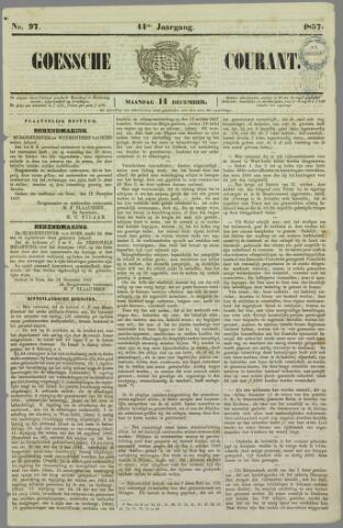 Goessche Courant 1857-12-14