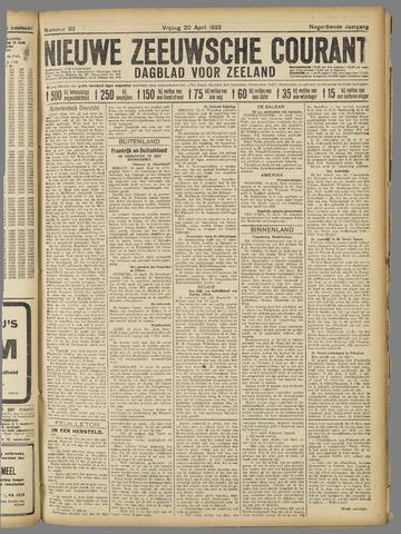 Nieuwe Zeeuwsche Courant 1923-04-20