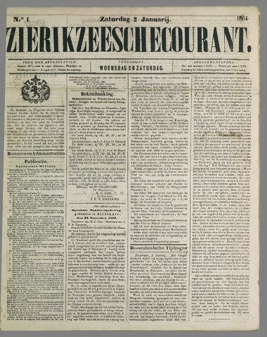 Zierikzeesche Courant 1864