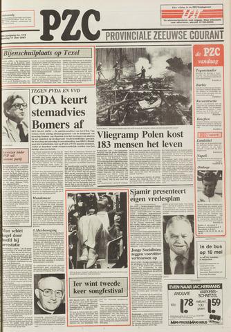 Provinciale Zeeuwse Courant 1987-05-11